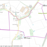 Map showing footpath
