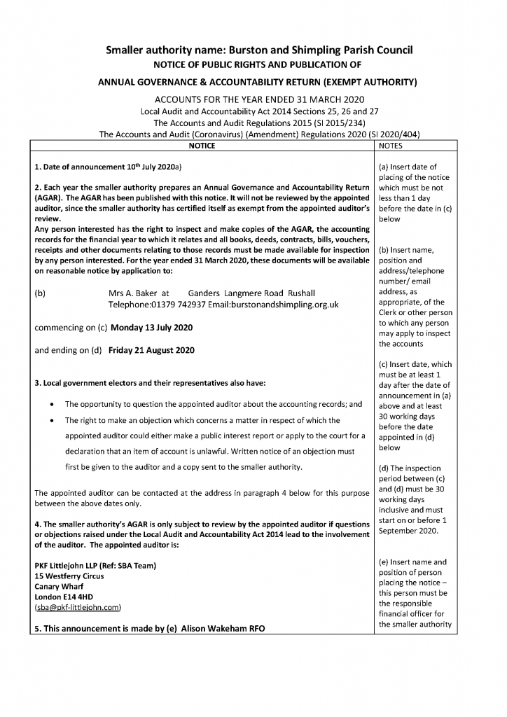 Picture of Public Rights Notice