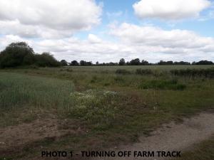 view of footpath across fields