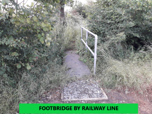 footbridge over a ditch