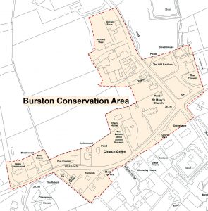 map showing conservation area