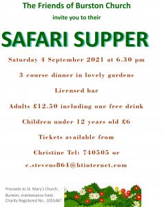 Safari Supper poster